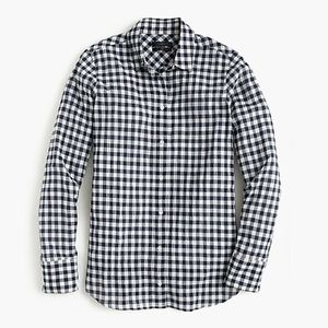 Jcrew Classic-fit boy shirt in crinkle gingham
